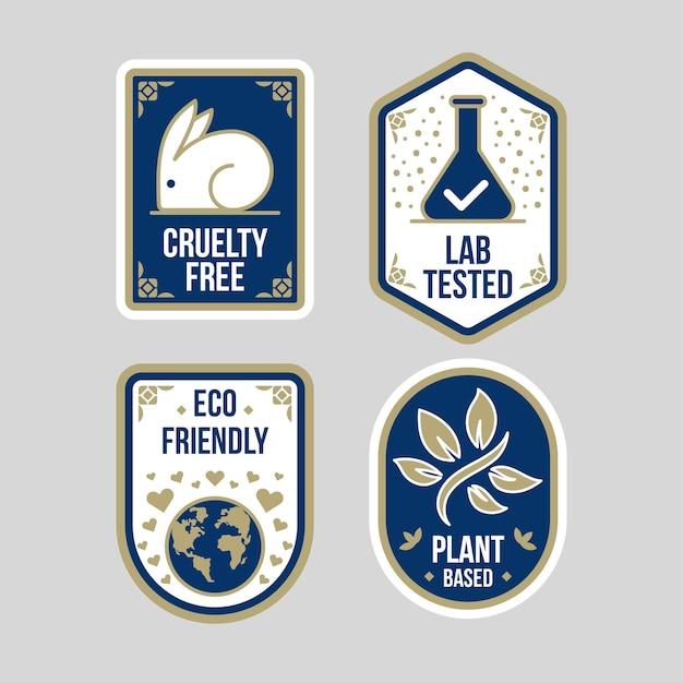Pack de badges plats sans cruauté