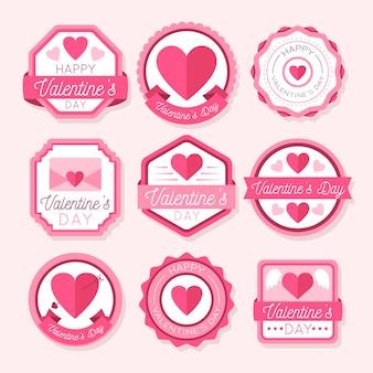 Pack de badges vintage pour la saint-valentin