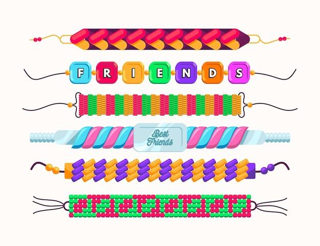 Pack de bande d'amitié colorée