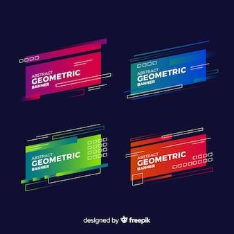 Pack de bannière de formes géométriques dégradées