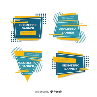 Pack bannière de formes géométriques irrégulières