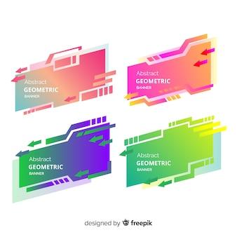 Pack de bannière géométrique coloré
