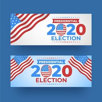 Pack de bannières de l'élection présidentielle américaine 2020
