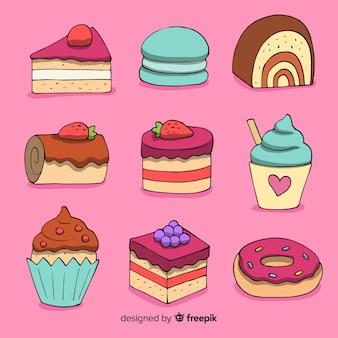 Pack de bonbons dessinés à la main