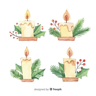 Pack bougies aquarelles