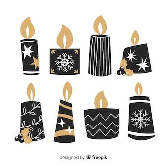 Pack de bougies de noël plates