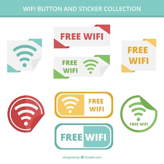 Pack de boutons wifi et autocollants