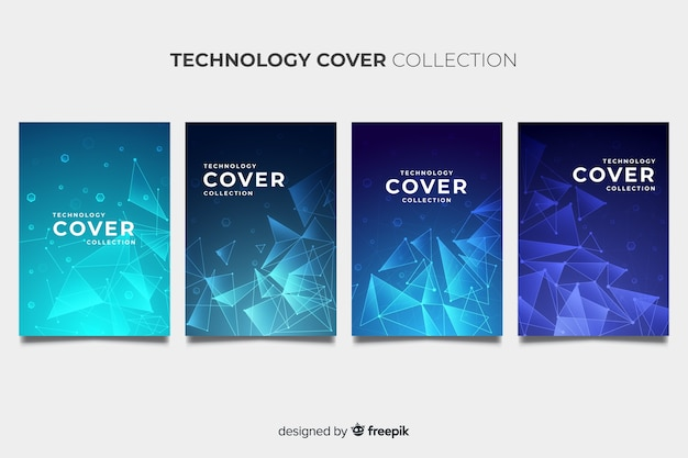 Pack de brochures de style technologique