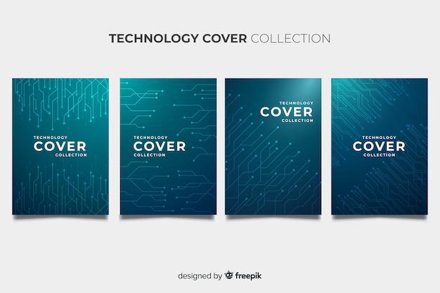 Pack de brochures de style technologique