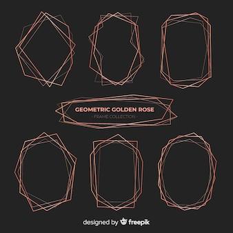Pack cadre cadre en or rose brillant