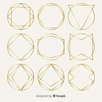 Pack de cadre géométrique en or