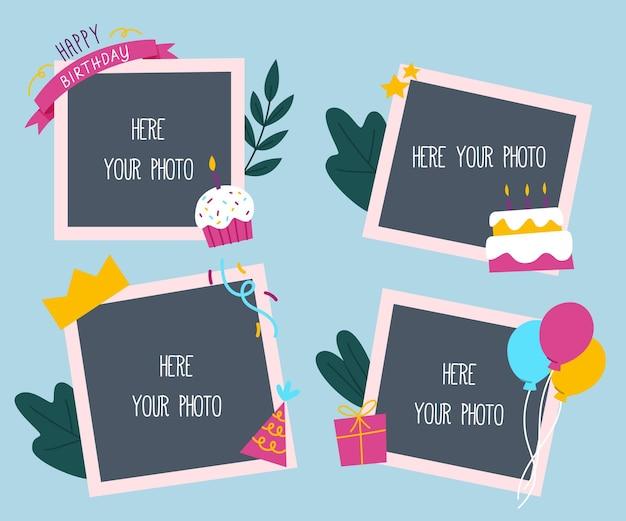 Pack de cadres de collage d'anniversaire