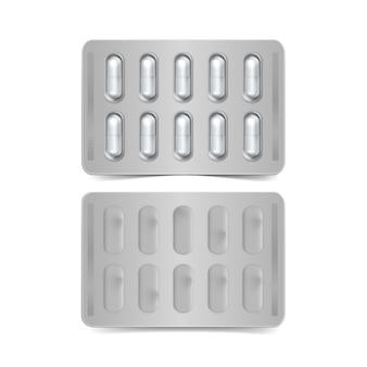 Pack de capsules isolé sur fond blanc