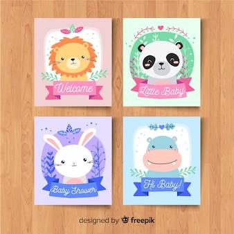 Pack de cartes de douche de bébé
