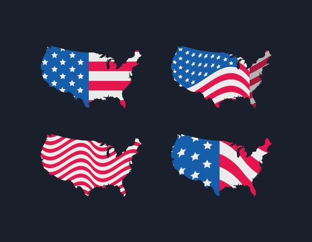 Pack de cartes des états-unis