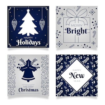 Pack de cartes de noël et nouvel an