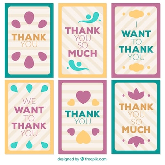 Pack de cartes de remerciement rétro