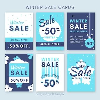 Pack de cartes simples soldes d'hiver