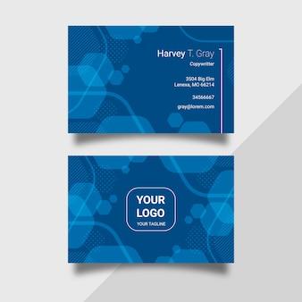 Pack de cartes de visite abstrait modèle bleu classique