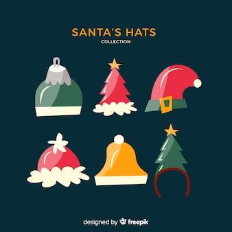 Pack de chapeaux de père noël