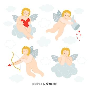 Pack de chérubins nus pour la saint-valentin