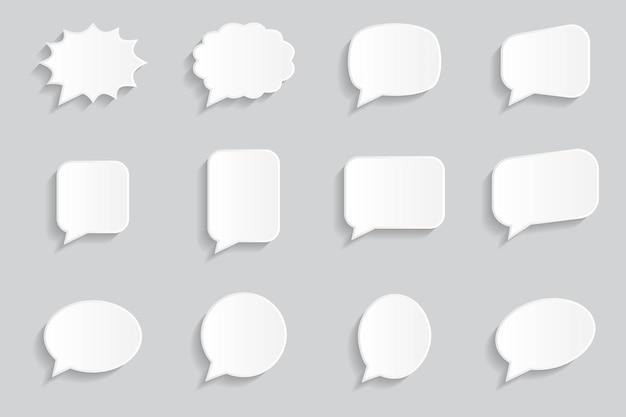 Pack de collection de boîtes de discussion en 3d.