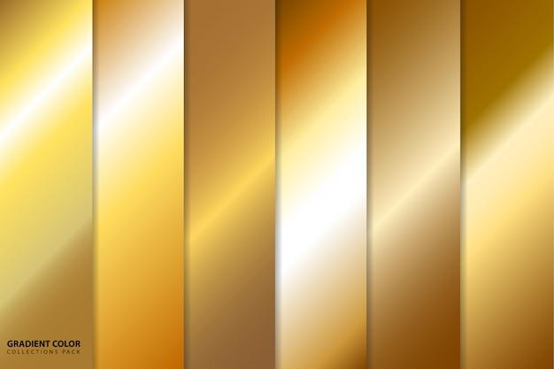 Pack de collections de couleurs dégradé or