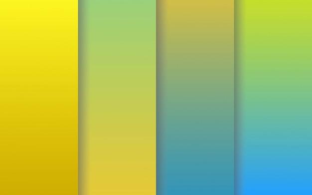 Pack de collections de couleurs dégradées
