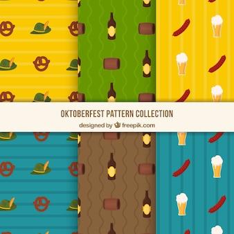 Pack coloré de motifs avec des éléments allemands
