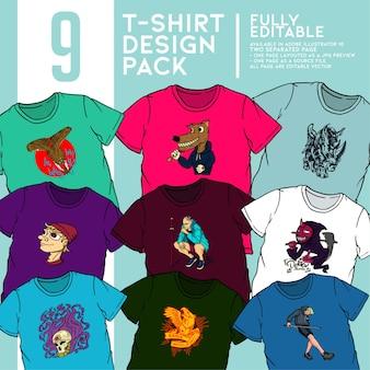 Pack de conception de t-shirt.