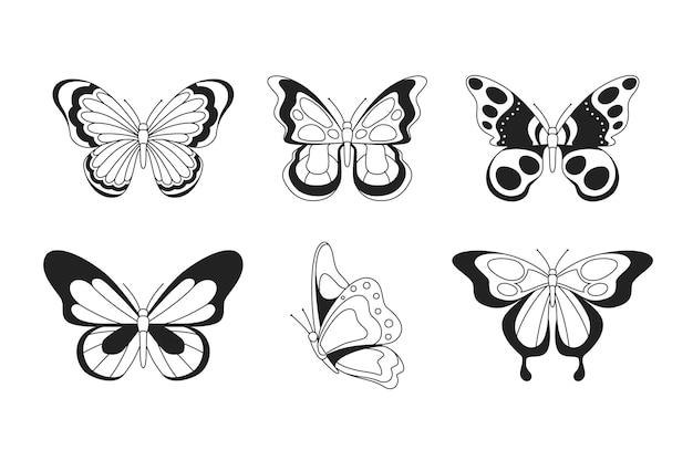 Pack de contour de papillon plat linéaire