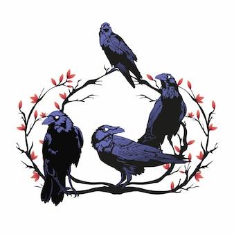 Pack de corbeaux à la succursale