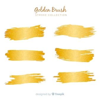 Pack coup de pinceau doré