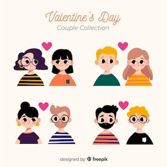 Pack de couples de saint valentin