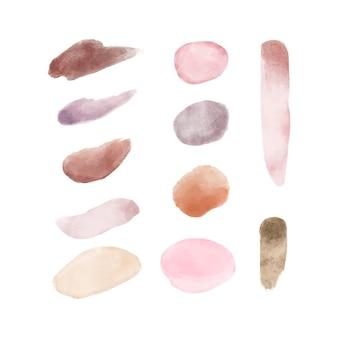 Pack de coups de pinceau aquarelle peinte à la main