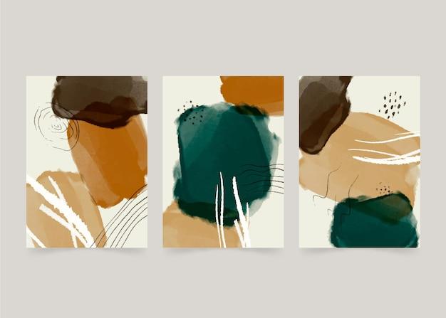 Pack de couverture d'art abstrait dessiné à la main