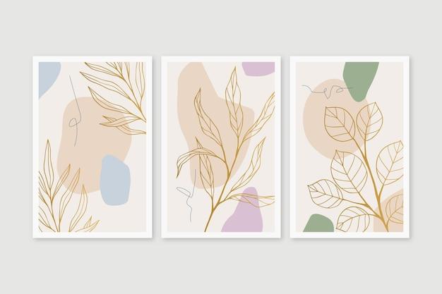 Pack couverture botanique or