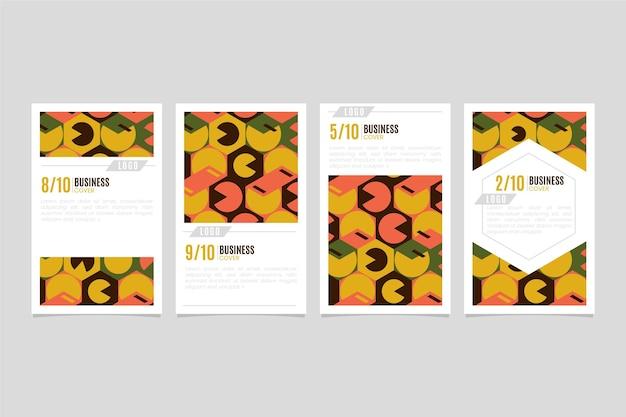 Pack de couverture d'entreprise géométrique