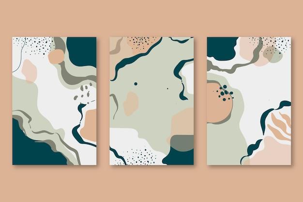 Pack de couverture de formes abstraites dessinées à la main