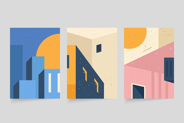 Pack de couvertures d'architecture minimale