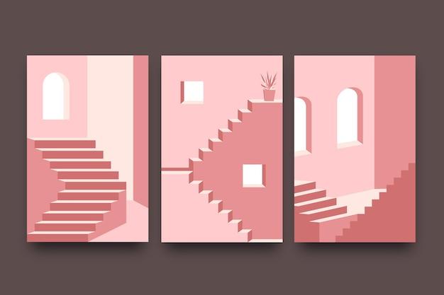 Pack de couvertures d'architecture de modèle minimal