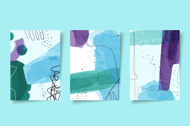 Pack de couvertures de formes aquarelles abstraites
