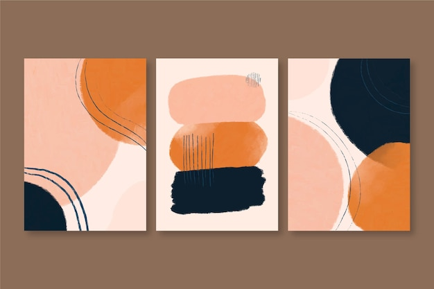 Pack de couvertures de formes aquarelles abstraites