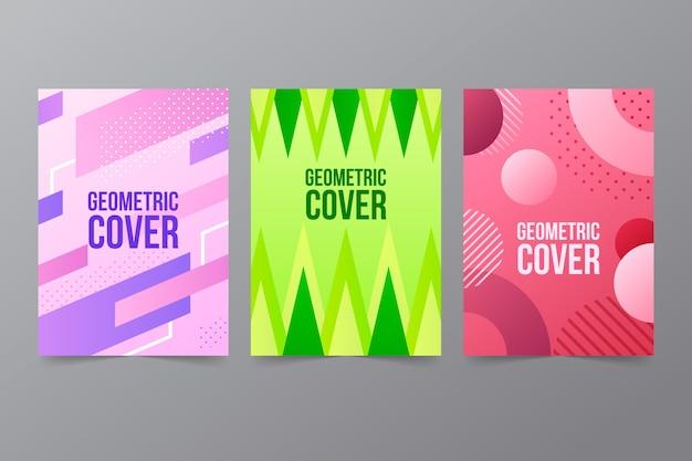 Pack de couvertures géométriques abstraites