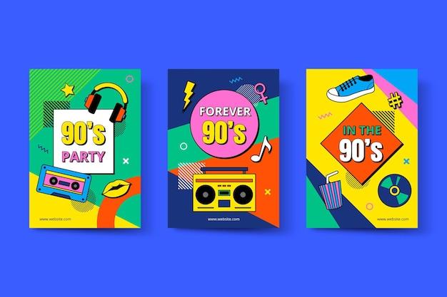 Pack de couvertures plates nostalgiques des années 90