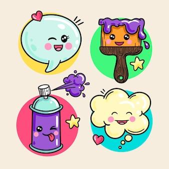 Pack de créativité kawaii coloré