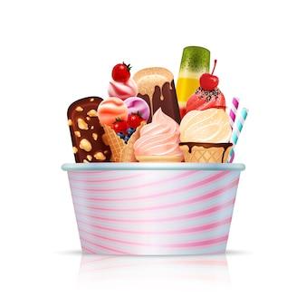 Pack de crème glacée