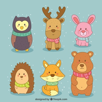 Pack de beaux animaux de la forêt