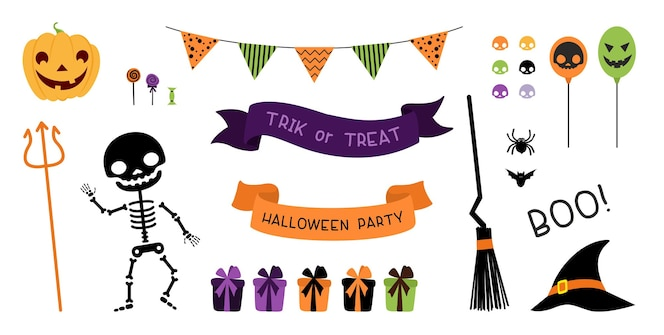 Pack de décorations de fête d'halloween