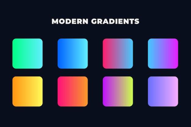 Pack dégradé dynamique moderne coloré
